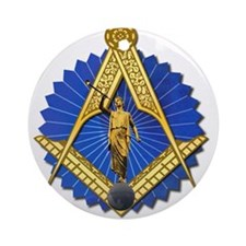 Cute Freemasonry Ornament (Round)