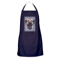 Border Terrier Head Study Apron (dark)
