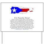 Puerto Rico Yard Sign