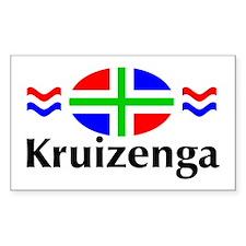 """""""Kruizenga"""" Rectangle Decal"""