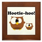 Hootie Hoo Framed Tile