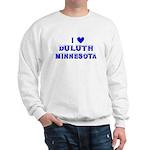 I Love Duluth Winter Sweatshirt