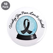 "Snowglobe Melanoma 3.5"" Button (10 pack)"