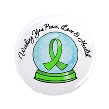 "Snowglobe Lymphoma 3.5"" Button"