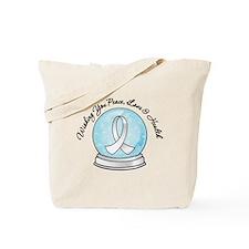 Snowglobe Lung Cancer Tote Bag