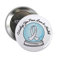 "Snowglobe Lung Cancer 2.25"" Button (100 pack)"