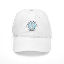 Snowglobe Lung Cancer Baseball Cap