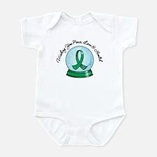 Snowglobe Liver Cancer Infant Bodysuit