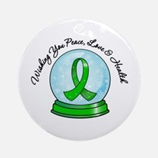 Snowglobe Kidney Cancer Ornament (Round)