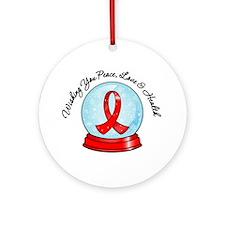 Snowglobe Heart Disease Ornament (Round)
