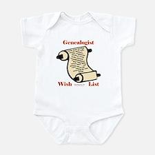 Genealogy Wish List Infant Bodysuit