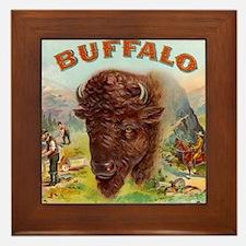 Vintage Cigar Label Framed Tile