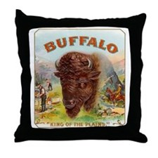 Vintage Cigar Label Throw Pillow