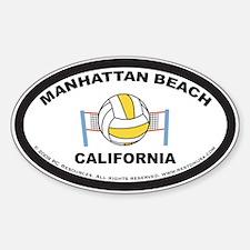 Manhattan Beach Sticker2 (Black)