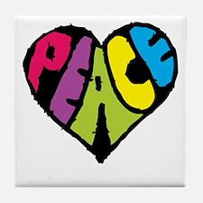 Dark Peace Tile Coaster