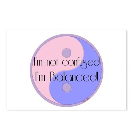 Not Confused... Balanced Postcards (Package of 8)