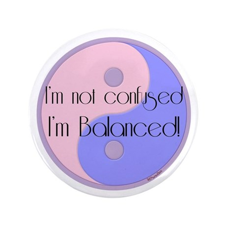 "Not Confused... Balanced 3.5"" Button (100 pac"