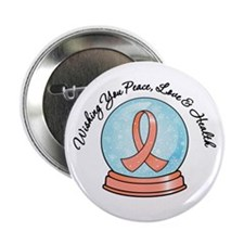 "Endometrial CancerSnowglobe 2.25"" Button (10 pack)"