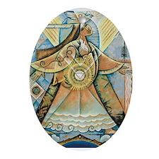 Olivia Cloud Walker Oval Ornament