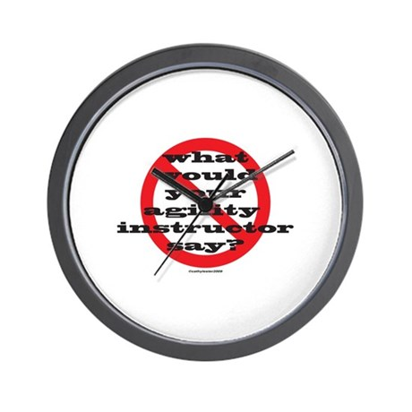 Your Agility Instructor Wall Clock