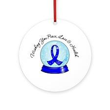 Colon Cancer Snowglobe Ornament (Round)