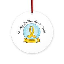 Childhood Cancer Snowglobe Ornament (Round)