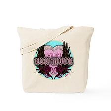 Twilight New Moon Crest Aqua Tote Bag