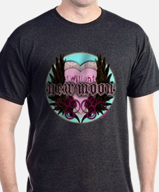 Twilight New Moon Crest Aqua T-Shirt
