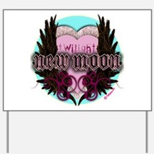 Twilight New Moon Crest Aqua Yard Sign