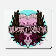 Twilight New Moon Crest Aqua Mousepad