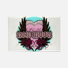 Twilight New Moon Crest Aqua Rectangle Magnet