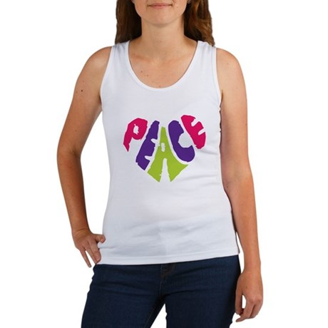 Light Peace Heart Women's Tank Top