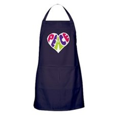 Light Peace Heart Apron (dark)