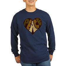 Earthtone Peace Heart T