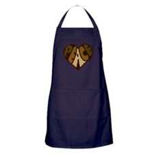 Earthtone Peace Heart Apron (dark)