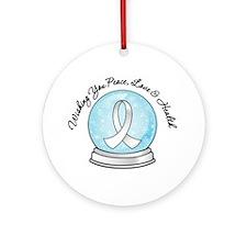 Bone Cancer Snowglobe Ornament (Round)