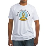 Appendix Cancer Snowglobe Fitted T-Shirt