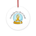 Appendix Cancer Snowglobe Ornament (Round)