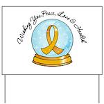 Appendix Cancer Snowglobe Yard Sign
