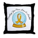 Appendix Cancer Snowglobe Throw Pillow