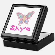 Pink Butterfly Skye Keepsake Box