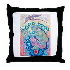 Sunrise Ruby Throw Pillow