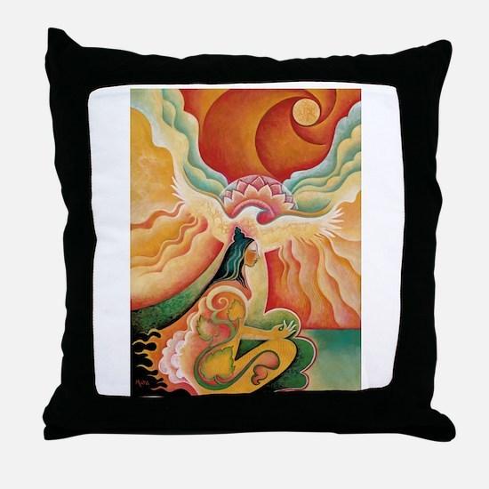 Golden Opening Throw Pillow
