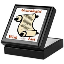 Genealogy Wish List Keepsake Box