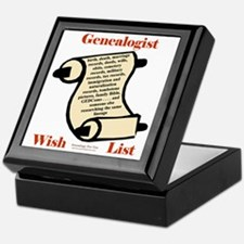 Genealogy Wish List Keepsake Box