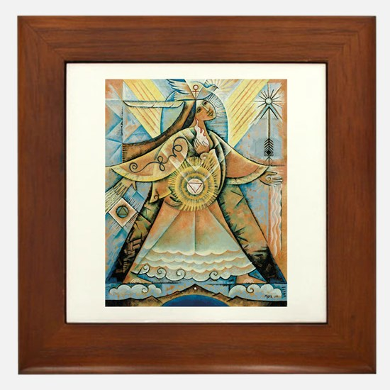 Olivia Cloud Walker Framed Tile