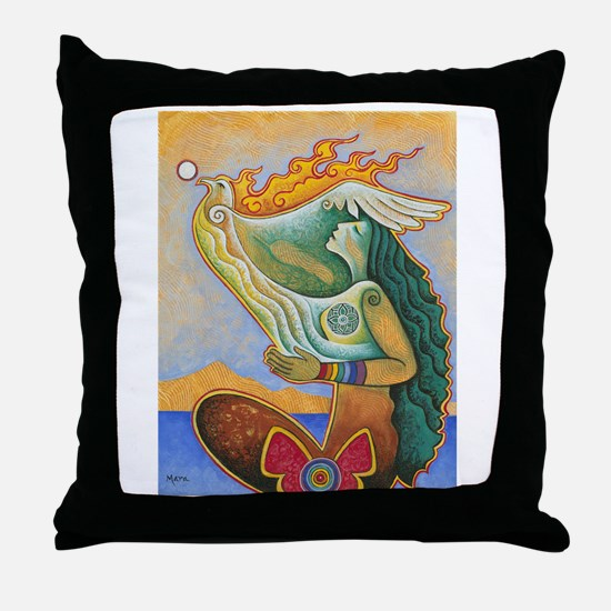 Rooted in Reverence Throw Pillow