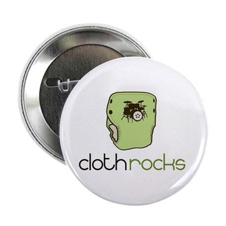"Cloth Rocks 2.25"" Button (100 pack)"
