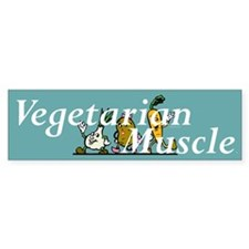 TOP Vegetarian Muscle Bumper Sticker