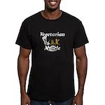 TOP Vegetarian Muscle Men's Fitted T-Shirt (dark)